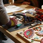 artiste mosaiste marie goyat demonstration