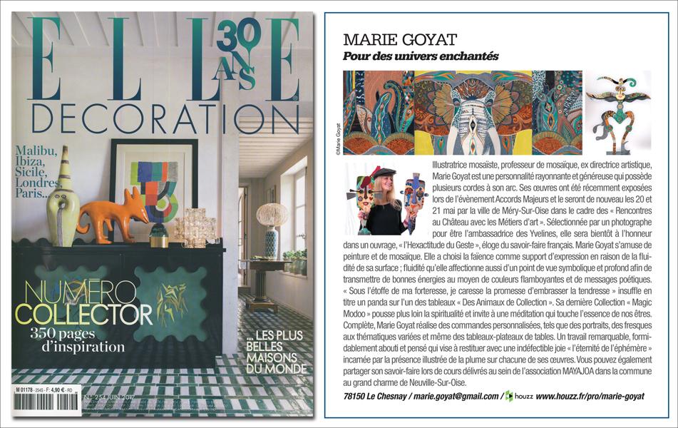 Presse Marie Goyat artiste mosaïste